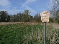 Dessau-Roßlau, Mosigkau, information board, natural monument Neue Teichwiese.jpg