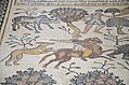 Detail of the 6th century AD mosaic in the Diakonikon Baptistry of the Moses Memorial Church depicting a hunting and herding scene interspersed with various animals, Mount Nebo, Jordan (39966304354).jpg