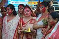 Devotees - Durga Idol Immersion Ceremony - Baja Kadamtala Ghat - Kolkata 2012-10-24 1362.JPG