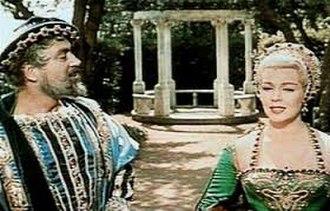 Pedro Armendáriz - Armendáriz with Lana Turner in Diane in 1956.