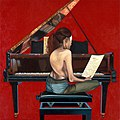 Die Partitur, 2005, Öl auf Leinwand, 110 x 110 cm.jpg
