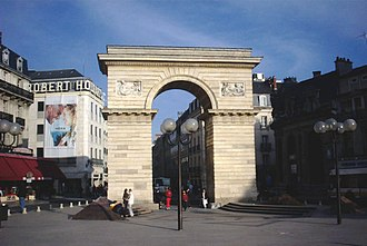 Dijon - Porte Guillaume (Guillaume Gate), Place Darcy (Darcy Square), in the center of Dijon.