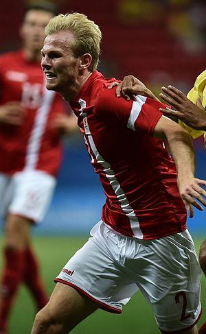 Mikkel Desler - Image: Dinamarca x África do Sul Futebol masculino Olimpíadas Rio 2016 (28835822765) (cropped)