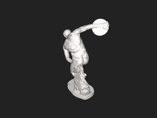 "3D digitized model of a replica of the greek sculpture ""Discobolus"". Replica from Den Kongelige Afstøbningssamling, Statens Museum for Kunst, Copenhagen Denmark."