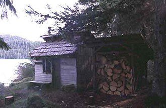 National Register of Historic Places listings in Hoonah–Angoon Census Area, Alaska - Image: Distin Lake Cabin