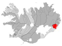 Location of the Municipality of Djúpavogshreppur