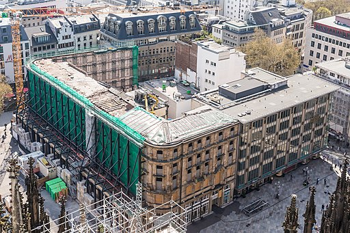 Dom-Hotel Köln, Abbrucharbeiten zur Entkernung-7732