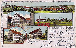 Erbach an der Donau - Donaurieden about 1900