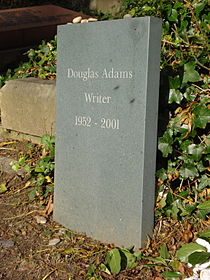 Douglas Adams' gravestone.jpg