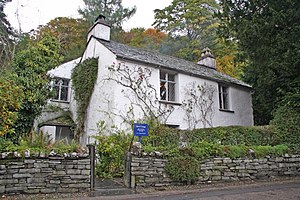 British regional literature - Dove Cottage, Grasmere in the Lake District, of England, where William Wordsworth lived for 14 years.