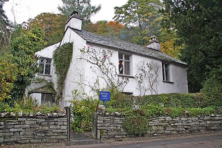 Dove Cottage (Town End, Grasmere) - home of William and Dorothy Wordsworth, 1799-1808; home of Thomas De Quincey, 1809-1820 Dove Cottage - geograph.org.uk - 70618.jpg