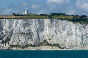South Foreland Lighthouse - The lighthouse next to the cliff