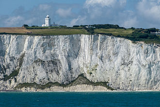Geology of England - The White Cliffs of Dover, Kent, made of chalk of Cretaceous age