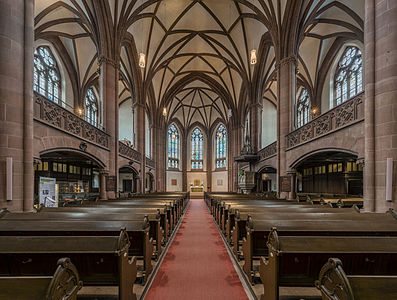 The nave of the Dreikönigskirche, Frankfurt
