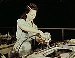 Drilling a wing bulkhead for a transport plane at the Consolidated Aircraft Corporation1a34933v (cropped).jpg