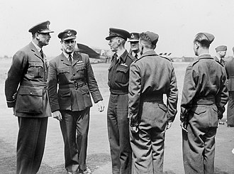 RAF Waddington - During his visit to RAF Waddington in June 1944, Prince Henry, Duke of Gloucester, meets the crews of No. 467 Squadron RAAF.