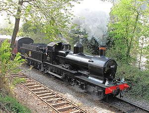 Locomotive frame - Preserved GWR 9017 showing outside frames