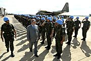 Brazilian Army troops before boarding for MINUSTAH peacekeeping mission in Haiti.