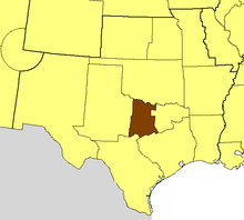 Location of the Diocese of Fort Worth