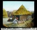 ETH-BIB-Settat, Hütte mit kauernder Frau-Dia 247-04101.tif