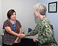 EXWC Employee Receives Command Coin from Rear Adm. Katherine L. Gregory, Commander, NAVFAC and Chief of Civil Engineers (15139918770).jpg