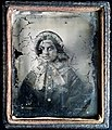 Early ambrotype of a young lady with a bonnet (6086261850).jpg