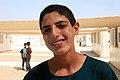 Educating child refugees in Zaatari camp (9634874671).jpg