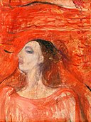 Edvard Munch - Woman's Head against a Red Background.jpg