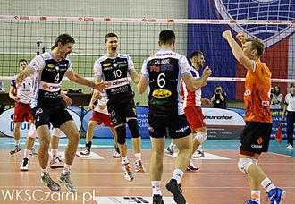 2014–15 PlusLiga - Cerrad Czarni Radom during the match with Effector Kielce on October 5, 2014.