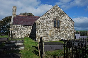 St Baglan's Church, Llanfaglan - St Baglan's from the west
