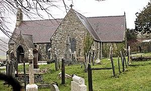 St Cawrdaf's Church, Llangoed - Image: Eglwys Sant St Cawrdaf Church (misspelt as St Cawdraf), Llangoed, Ynys Môn, Cymru, North Wales 03