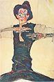 Egon Schiele - Selbstbildnis mit braunem Hut - 1910.jpeg