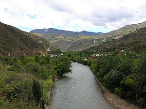Utcubamba (river) - Image: El Tingo
