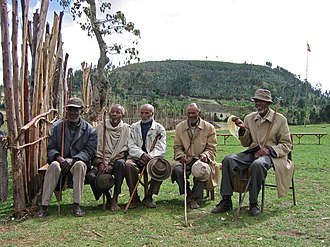 Rural health - Village elders participate in a training for rural health care workers in Ethiopia.