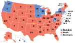 Electoral map, 1988 election