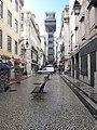 Elevador de Santa Justa, Rua do Ouro, Lisboa - panoramio.jpg