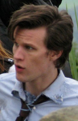 Matt Smith op de set van Doctor Who