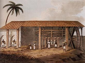 Henry Koster (author) - A Brazilian sugar mill, as sketched by Koster in 1816