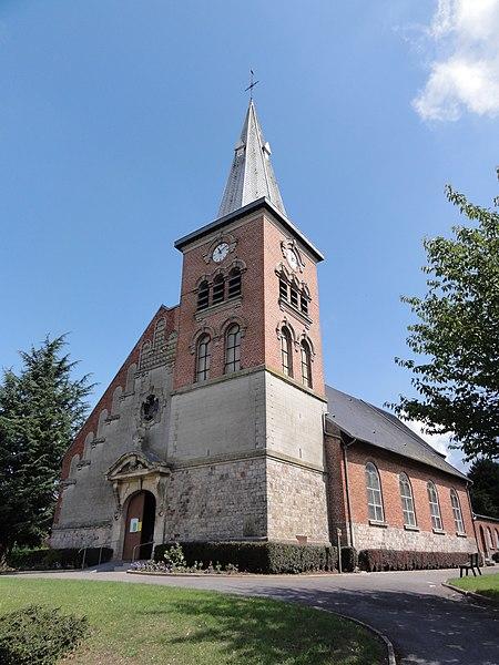 Englefontaine (Nord, Fr) église Saint-Georges, extérieur