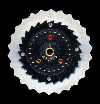 Enigma rotor details - Image: Enigma rotor pin contacts
