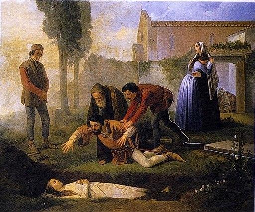 Enrico Pollastrini - Nello alla tomba di Pia de' Tolomei 01