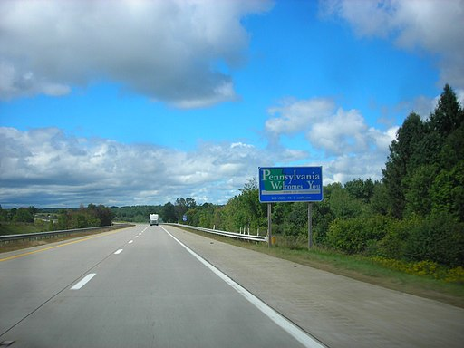 Entering Pennsylvania on I-86 west