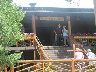 National Register of Historic Places listings in Grand County, Colorado - Image: Entrance to Grand Lake Lodge, Grand Lake, CO IMG 5377