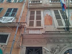 Photo of Giuseppe Mazzini marble plaque