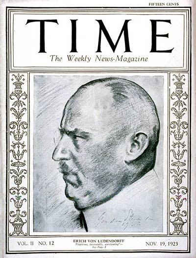 Erich Ludendorff Time cover 1923