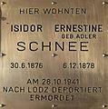 Erinnerungsstein für Isidor und Ernestine Schnee.JPG