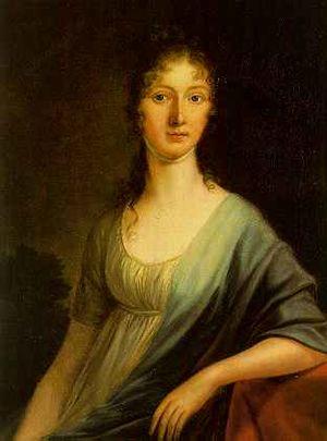 Maximilian von Montgelas - Portrait of Countess Ernestine von Arco