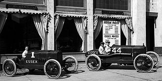Essex (automobile) - Essex racecars on display in Salt Lake City, 1920