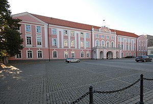 Riigikogu - Parliament building in Toompea Castle: the seat of the Parliament.