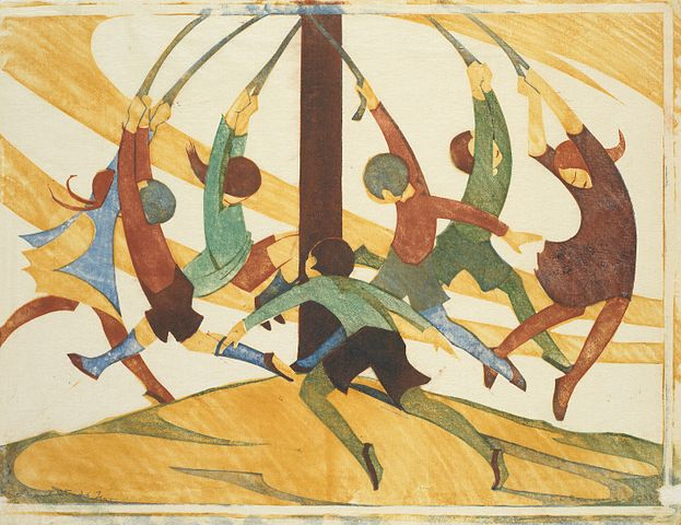 https://upload.wikimedia.org/wikipedia/commons/thumb/f/fe/Ethel_Spowers._The_giant_stride%2C_1933._Linocut.jpg/623px-Ethel_Spowers._The_giant_stride%2C_1933._Linocut.jpg